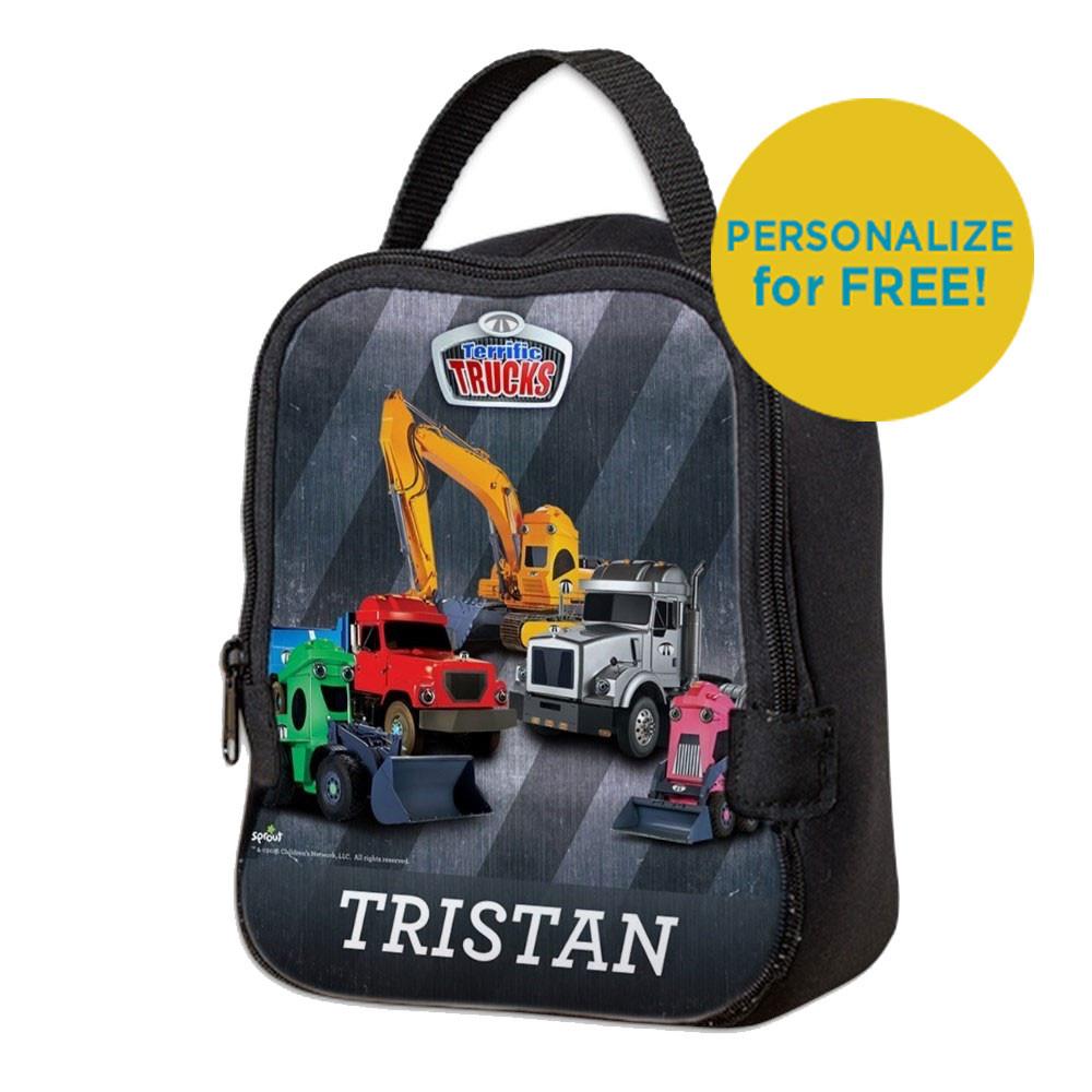 Terrific Trucks Neoprene Lunch Bag