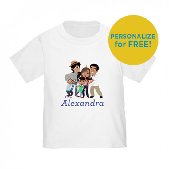 Ninas World Family Personalized Toddler T-Shirt