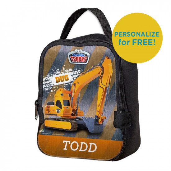 Dug Terrific Trucks Neoprene Lunch Bag