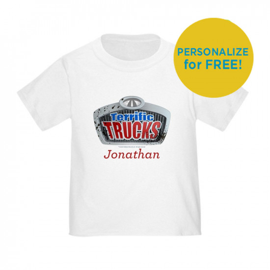 Terrfic Trucks Logo Personalized Toddler T-Shirt