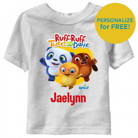 Ruff-Ruff, Tweet and Dave Personalized Short Sleeve Toddler T-Shirt