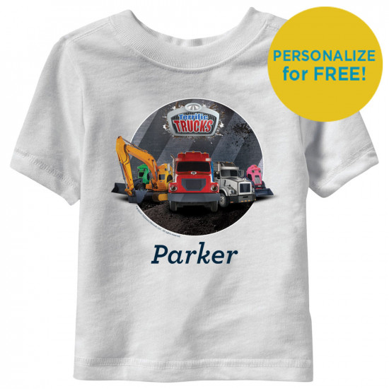 Terrific Trucks Group Personalized Toddler T-Shirt