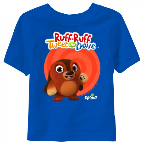 Ruff-Ruff, Tweet and Dave - Ruff-Ruff Short Sleeve Toddler T-Shirt