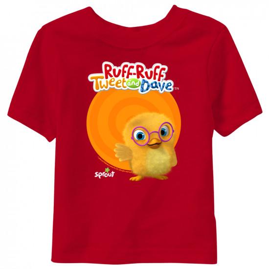 Tweet - Ruff-Ruff, Tweet and Dave Short Sleeve Toddler T-Shirt