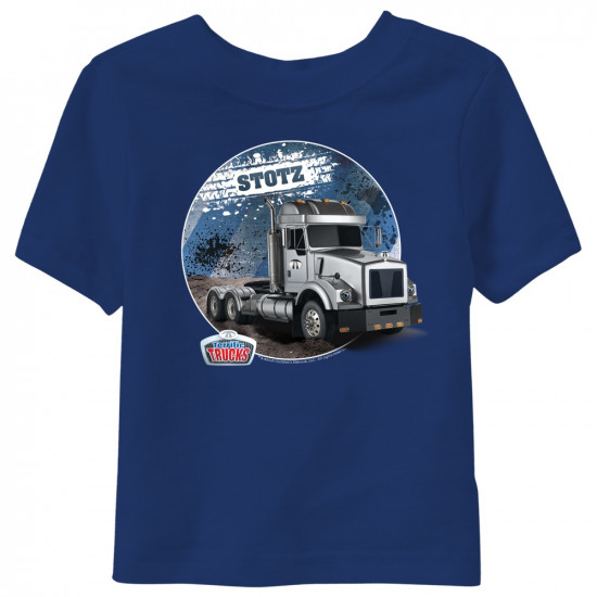 Stotz Terrific Trucks Toddler T-Shirt - Navy 2T