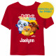Ruff-Ruff, Tweet and Dave Short Sleeve Toddler T-Shirt - Red